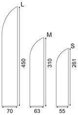 Размер флага Перо