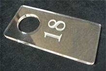 Изготовление номерков для ключей, гардероба и бэджей