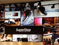Тканевый световой короб для магазина Superstep, картинка