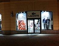Аппликация самоклеющиеся пленки для магазина Lacoste, картинка