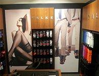 Аллюминевый профиль и тканевое панно для магазина Falke, картинка