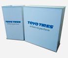 Стол ресепшн Desk для коvпании TOYO TIRES ,Мобильные стенды