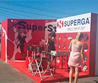 Выставочная застройка для компании SUPERGA ,оформление торговых и выставочных центров