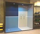 Торговое оборудование для компании Lacoste ,оформление торговых и выставочных центров