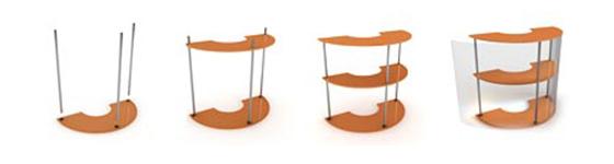 Схема сборки мобильного стола ресепшен Элефан