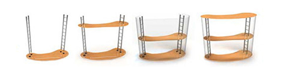 Схема сборки разборного стола Капля