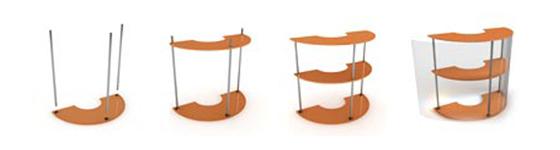 Схема сборки мобильного стола-ресепшен Эклипс