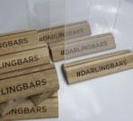 Тэйблтенты на деревянной основе для бара