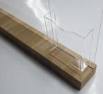 Тейбл тент с большим деревянным основанием и карманом под буклеты