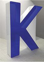 Несветовые объемные буквы «Пластик плюс»