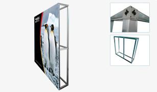 Mega Frame Wall на основе профиля Mega Display Frame