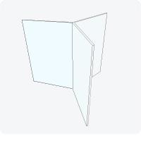Тейбл тент трехсторонний из оргстекла 2 мм