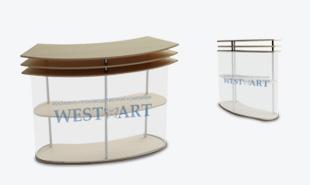 Мобильный стол-ресепшен Эклипс